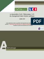OpinionWay - Le Barometre CLAI Metro LCI Du Changement Dans Laction Politique_Juil2014 Vf