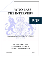 Oral exam hints - UK Cabinet Office