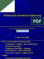 Verbal and Numerical REasoning hints, priorities, methodology