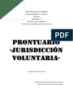 Prontuario Jurisdiccion Voluntaria Completo