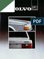 Volvo 240 Diesel 1983 Dutch NL Brochure