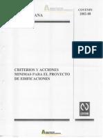 COVENIN 2002-1988 Criterios y Acciones Para Proyectos de Edificaciones