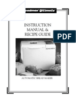 Breadman Op Manual TR2200c