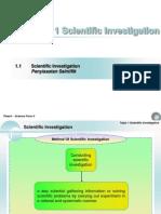 Chapter 1 Scientific Investigation.
