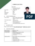 Curriculum Vitea Update 2014.05.26