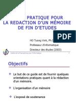 Guide Pratique Pour La Rédaction D_un Mémoire de Fin D_Etudes