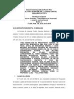 Informe P. de R. 109 Serie 2013-2014
