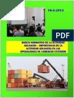Marco Normativo de La Actividad Aduanera - Importancia de La Actividad Aduanera en Las Operaciones de Comercio Exterior (Exposición)