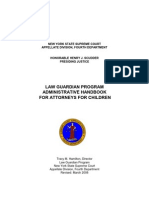 LAW GUARDIAN PROGRAM ADMINISTRATIVE HANDBOOK FOR ATTORNEYS FOR CHILDREN