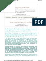 Banking News - 2014-05-17