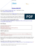Exchange 2007 SCW and Windows 2008 SP2 - Part 2