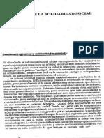f) DURKHEIM - Solidaridad Social