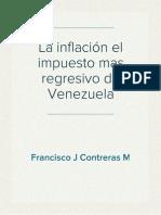 La inflación el impuesto mas regresivo de Venezuela