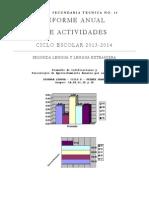 Informe anual 2013 2014