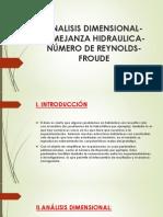Analisis Dimensional-semejanza Hidraulica-número de Reynolds- Froude