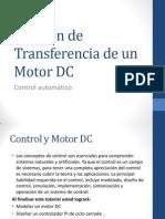 Función de Transferencia de Un Motor DC