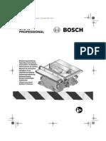 BOSCH GTS10 part list