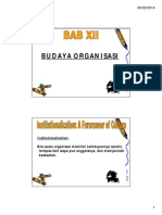 Bab 012 - Budaya Organisasi