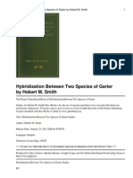 Hybridization Between Two Species of Garter Snakes by Hobart M. Smith