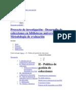 Política de Gestión de Las Colecciones (PGC)