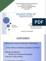 Balance de Líneas de Producción. Exposición (3)