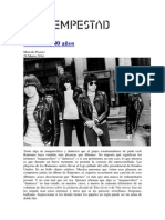 Ramones 40 Años - Marcelo Pisarro - La Tempestad
