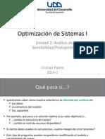 Optimización I - Unidad 2 - AnalisisSensibilidad