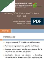 Aula 9 - Cunicultura - Instalações Para Coelhos