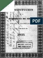 Constitución de 1833 Chile