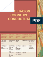 EVALUACION COGNITIVO CONDUCTUAL