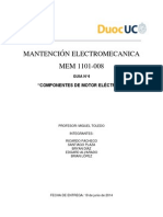 Pauta de Mantención Motor Eléctrico 409