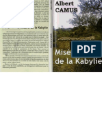 Albert Camus Misere de Kabylie