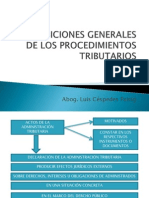 3. Disposiciones Generales. Notificación