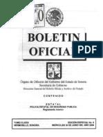Reglamento Interior de La Policía Estatal de Seguridad Pública
