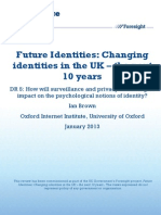 Surveillance and Privacy Technologies Impact on Identity