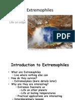 Extremophiles - Rtb 11.3