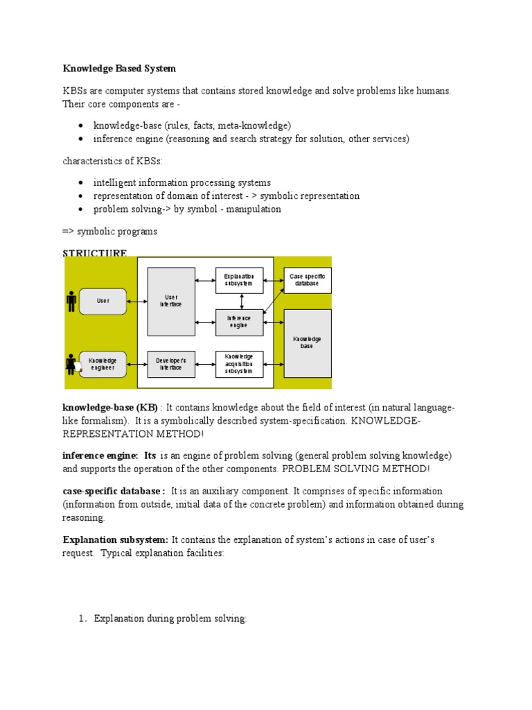 knowledge based system   Databases   System
