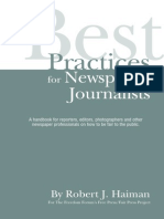 Best Practices for Newpaper Journalists