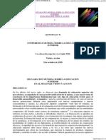 Declaracion Mundial Sobre La Educacion Superior en El Siglo Xxi_ Vision y Accion-unesco