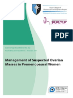 RCOG - Management of Suspected Ovarian Masses in Premenopausal Women
