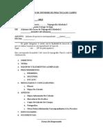 Modelo de Informe de Práctica de Campo