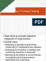 RFT (Respiratory Function Testing)