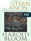 Harold Bloom the Western Canon 1994
