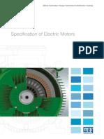 WEG Specification of Electric Motors 50039409 Manual English