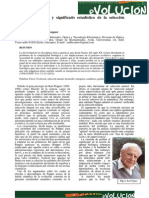 Aleman - Dinámica Evolutiva y Significado Estadístico de La Selección Natural