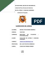 SEGUNDA TAREA DE LÓGICA DEL LIBRO DE SUPPES