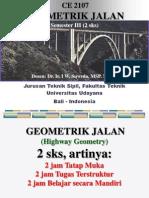 Kuliah 1 Lingkup Geometrik Jalan