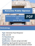 Nanaimo Council Motion and Public Opinion Summary Results - June 30, 2014