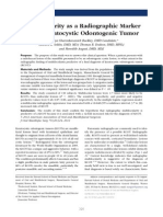 2012 Multilocularity as a Radiographic Marker of the Keratocystic Odontogenic Tumor (1)