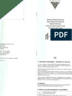 Manual USUARIO Riester Oplaadbare Laringoscoop